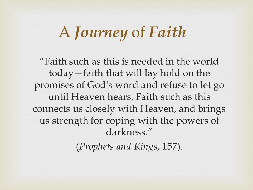 A Journey of Faith
