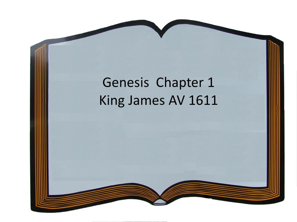 Genesis Chapter 1 King James AV 1611