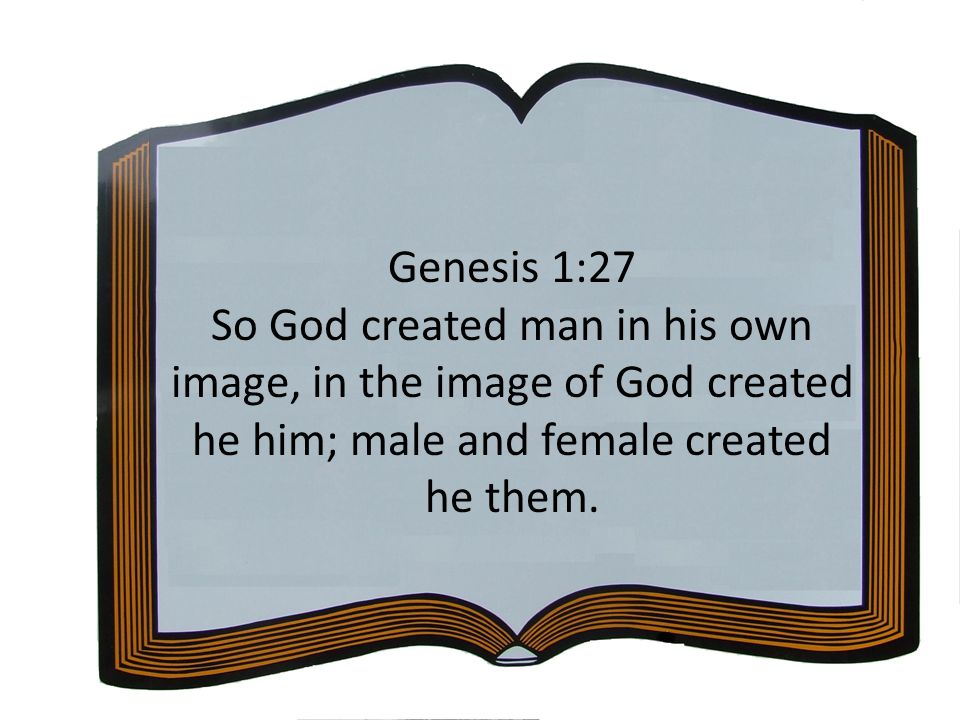 Genesis 1:27 So God created man in his own image, in the image of God created he him; male and female created he them.