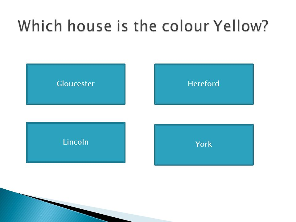 Which house is the colour Yellow