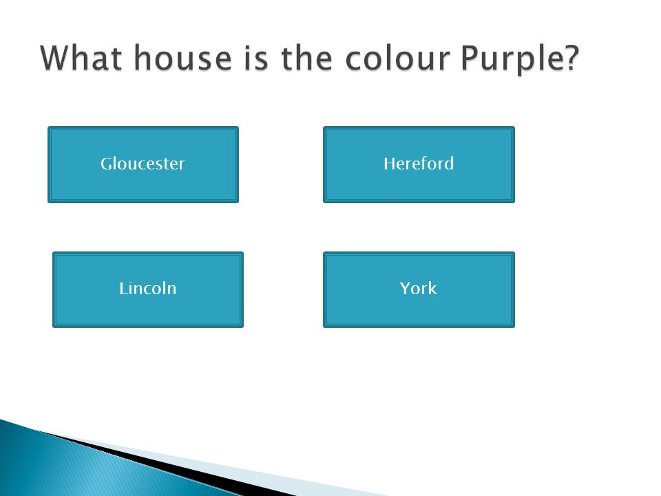 What house is the colour Purple