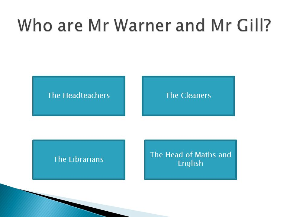 Who are Mr Warner and Mr Gill