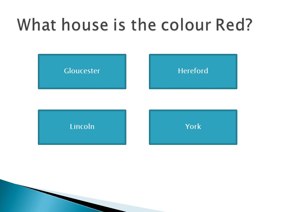 What house is the colour Red
