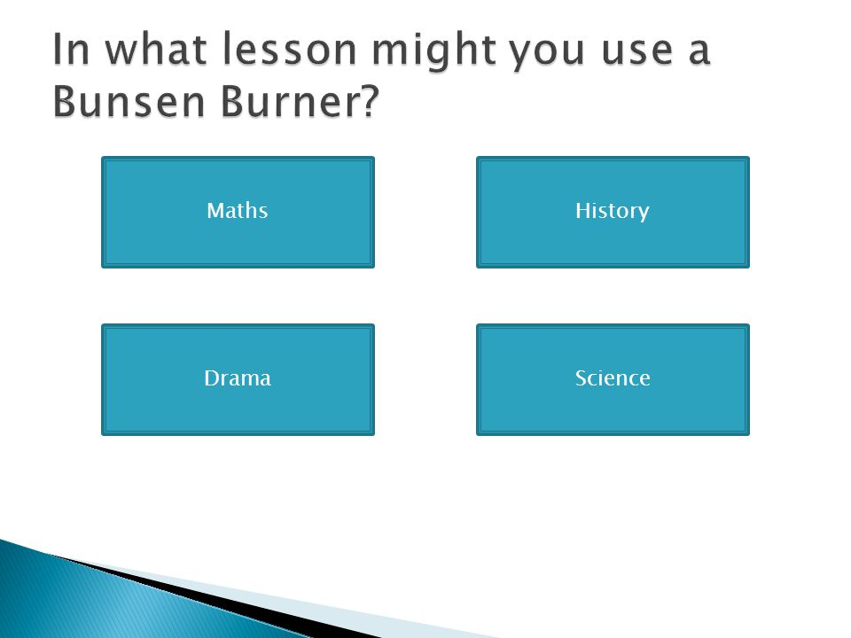 In what lesson might you use a Bunsen Burner