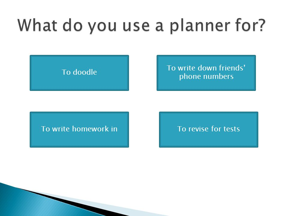 What do you use a planner for