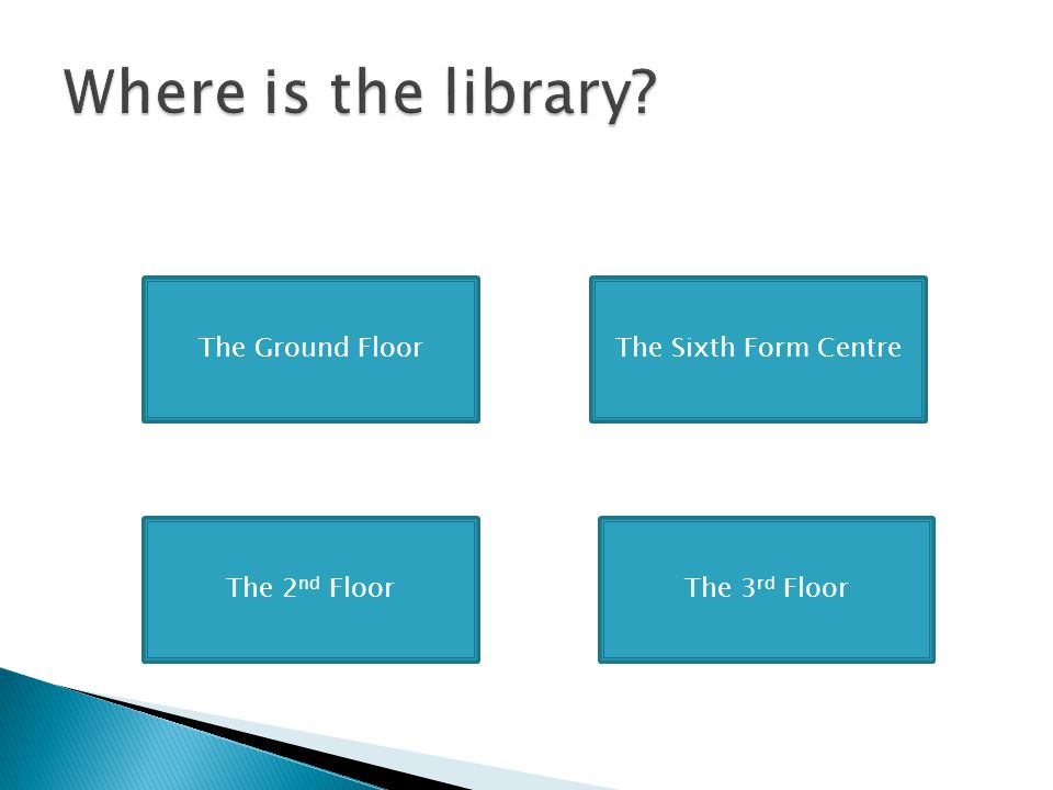 Where is the library The Ground Floor The Sixth Form Centre
