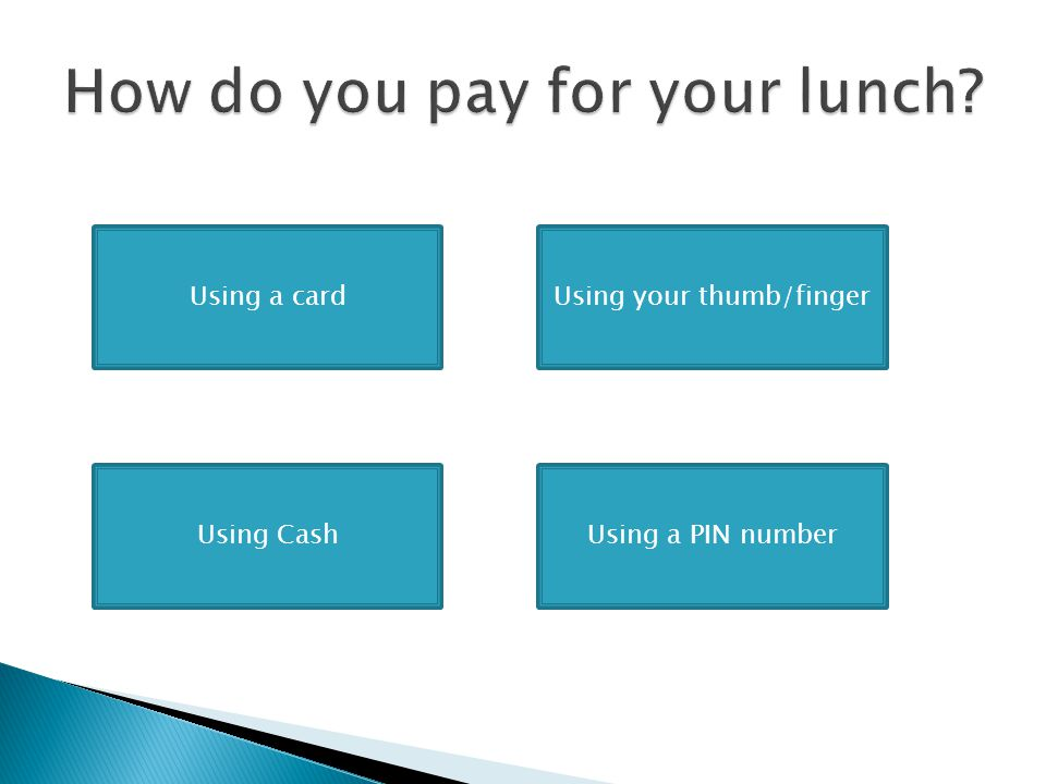 How do you pay for your lunch