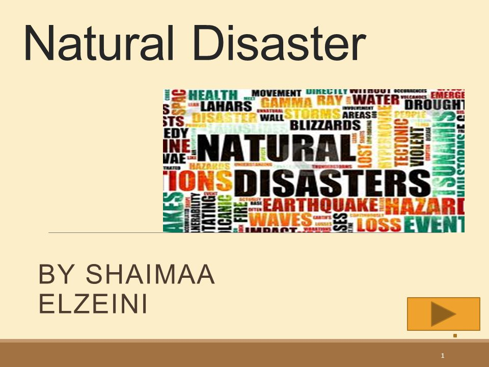 Natural Disaster By Shaimaa Elzeini