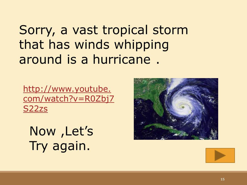 Sorry, a vast tropical storm that has winds whipping around is a hurricane .