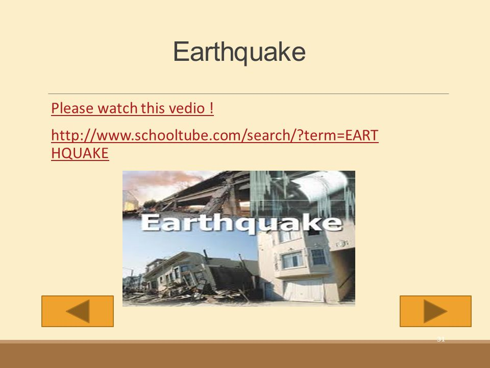 Earthquake Please watch this vedio !