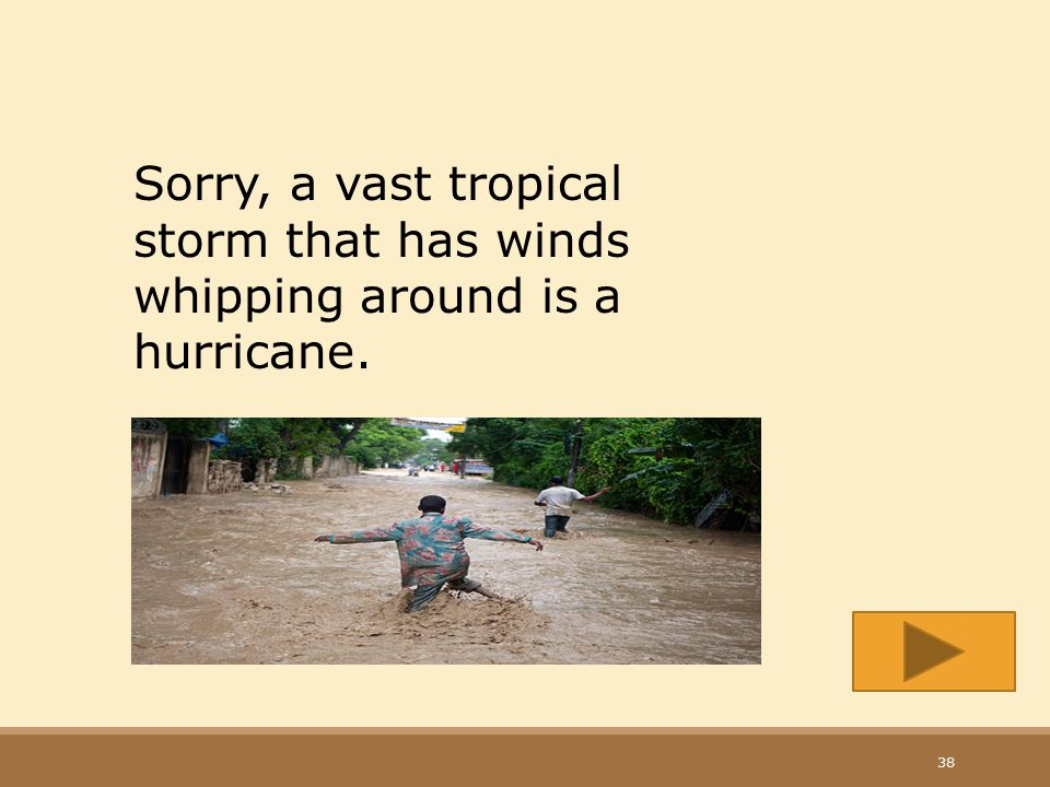 Sorry, a vast tropical storm that has winds whipping around is a hurricane.