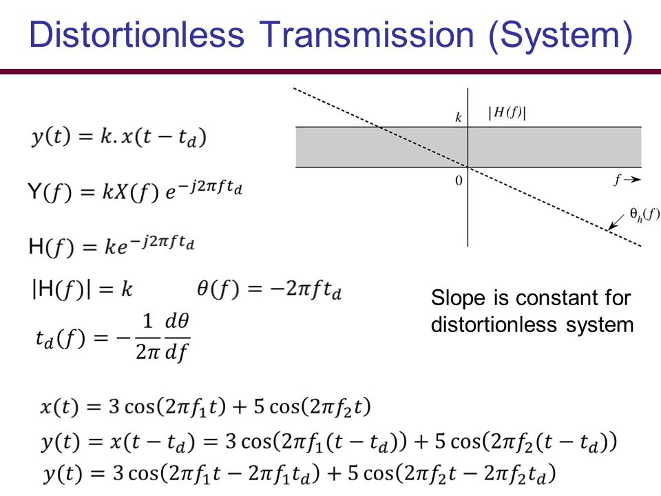 Distortionless Transmission (System)