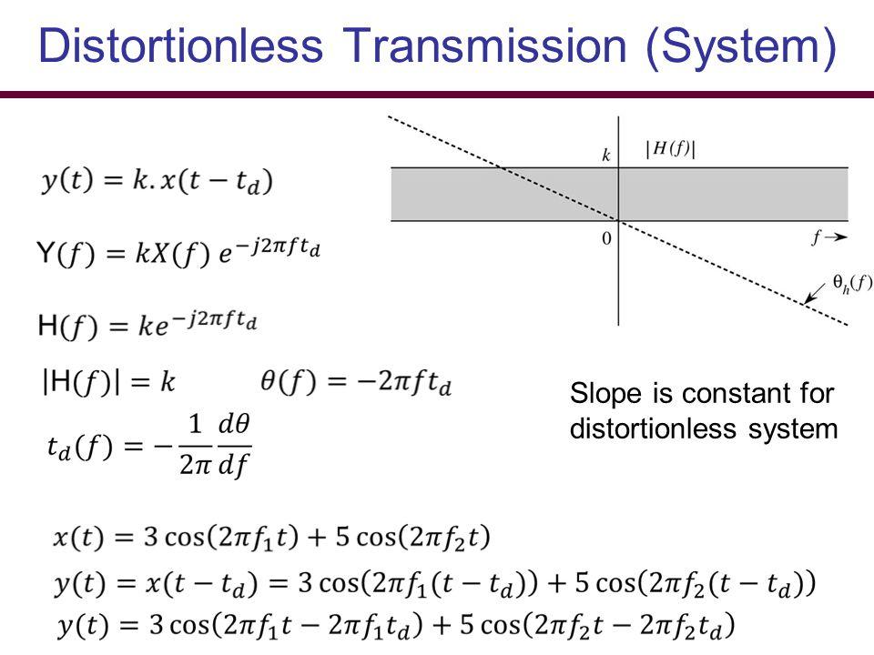 Distortionless Transmission (System)