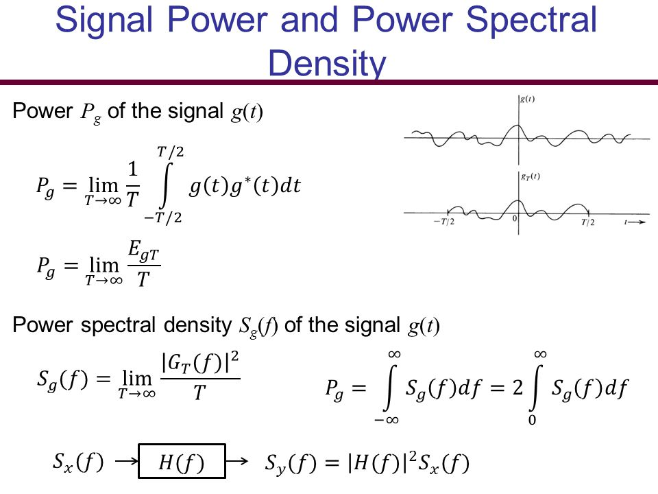 Signal Power and Power Spectral Density