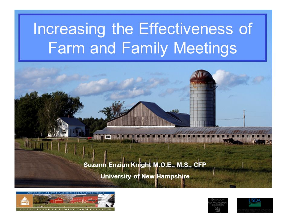 Increasing the Effectiveness of Farm and Family Meetings