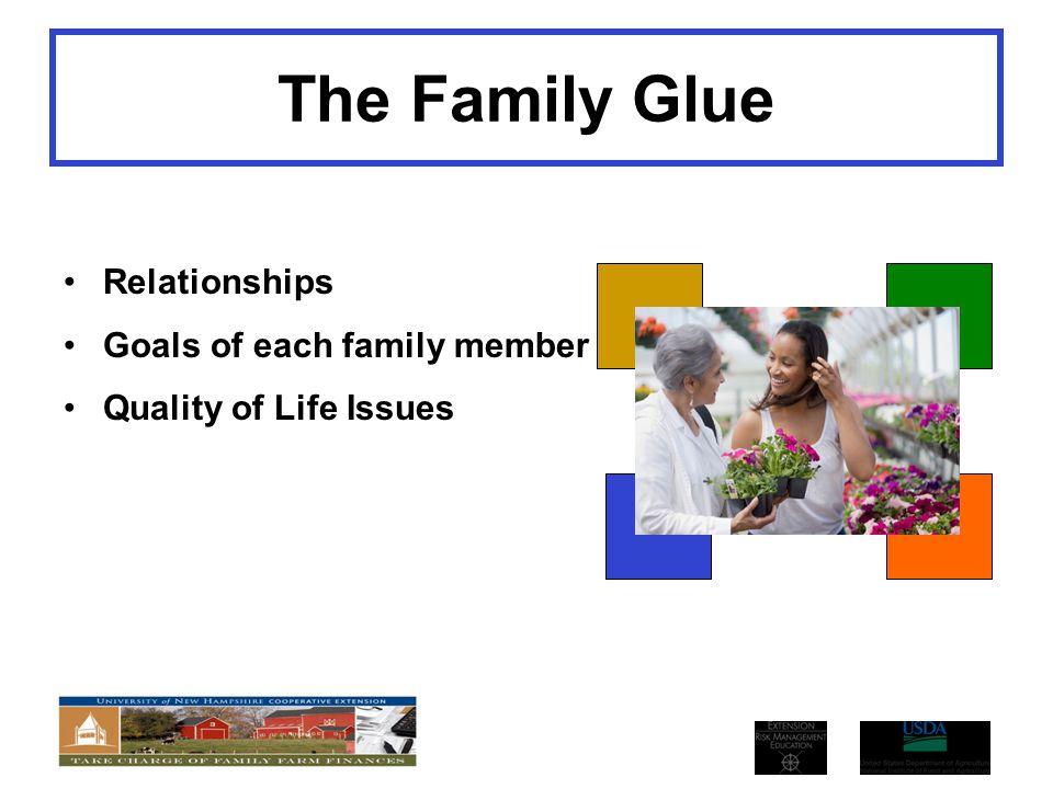 The Family Glue Relationships Goals of each family member