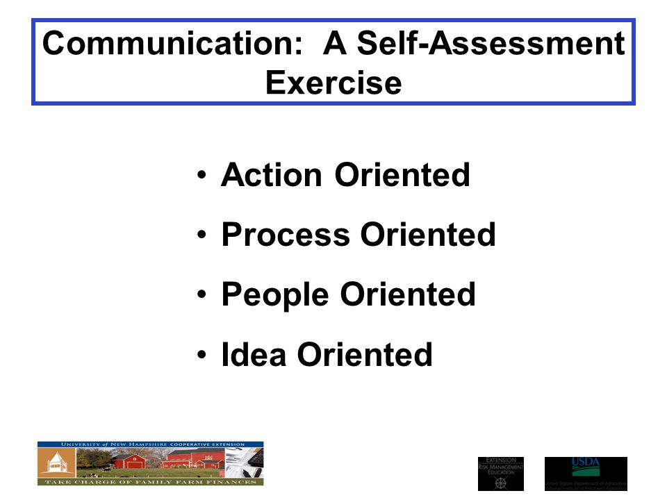 Communication: A Self-Assessment Exercise