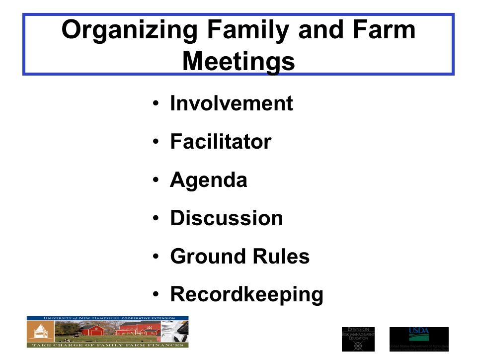 Organizing Family and Farm Meetings