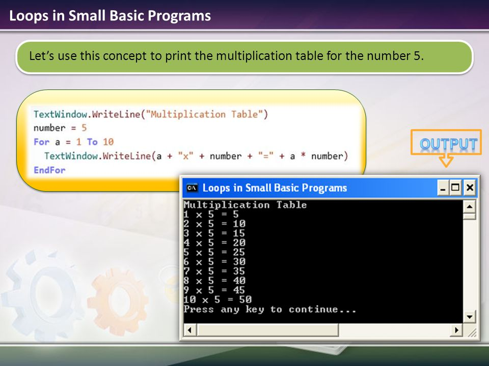 Loops in Small Basic Programs