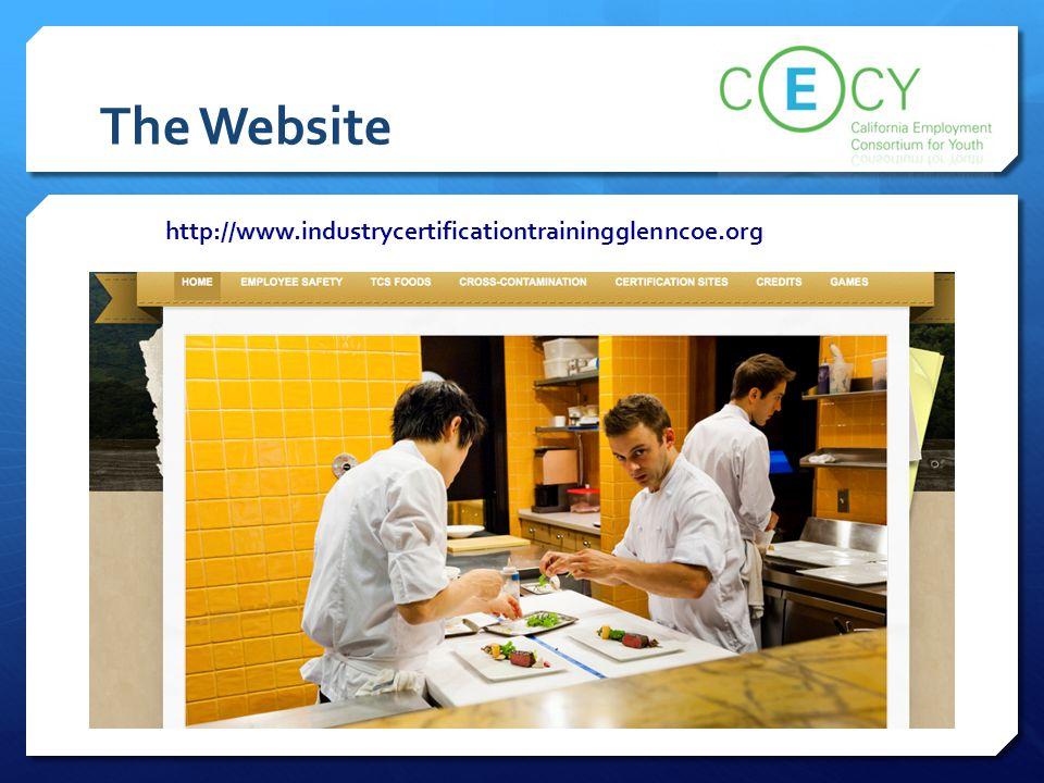 The Website http://www.industrycertificationtrainingglenncoe.org
