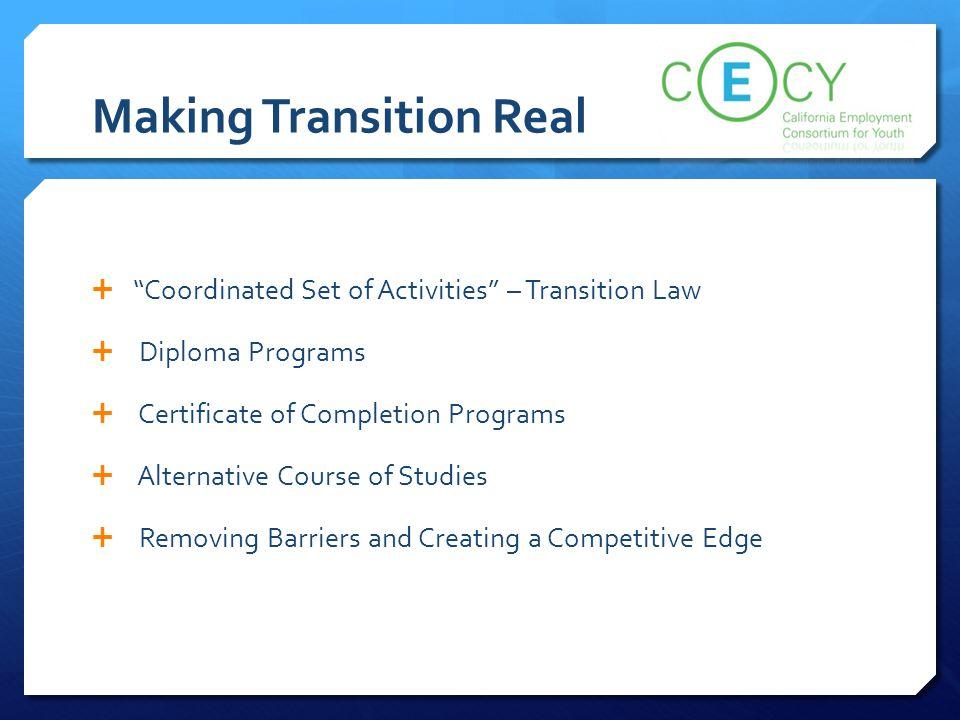 Making Transition Real
