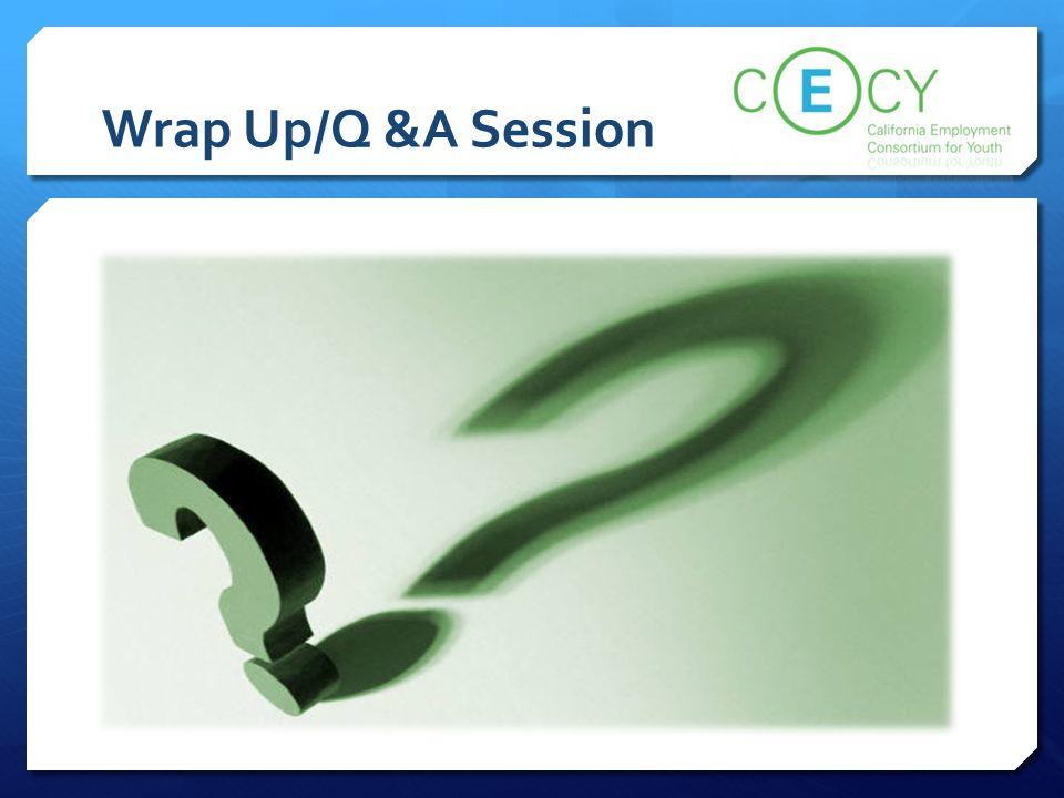 Wrap Up/Q &A Session Team