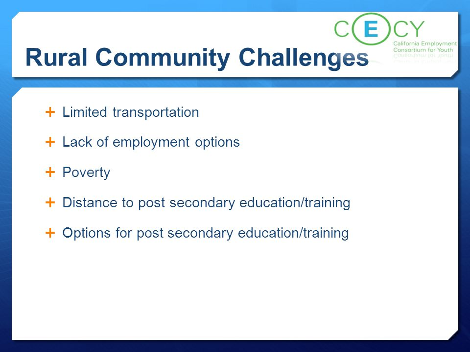Rural Community Challenges