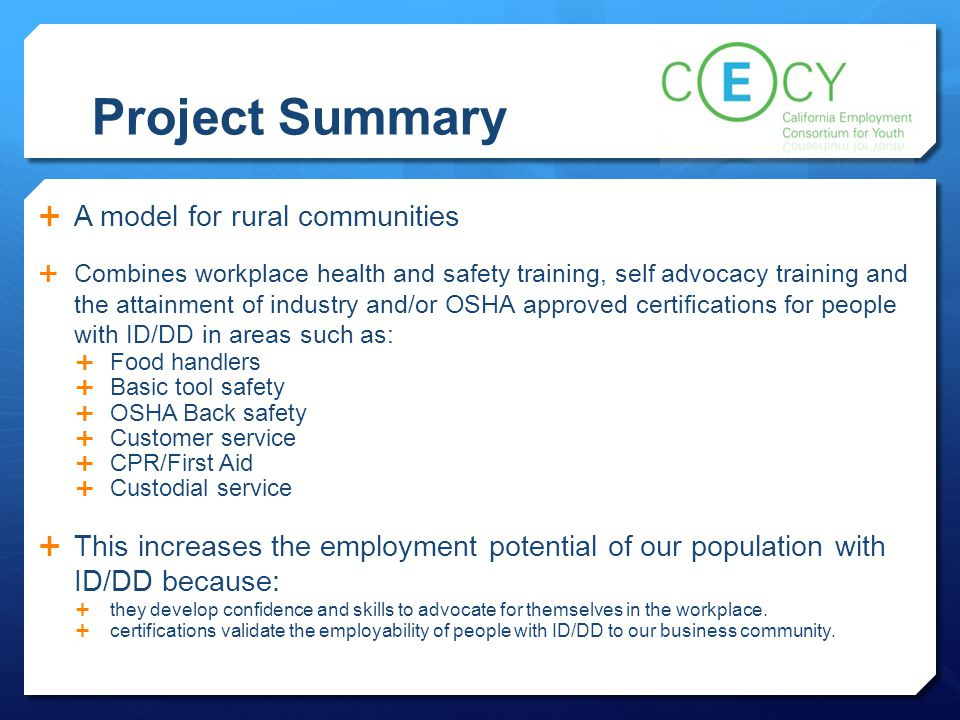 Project Summary A model for rural communities