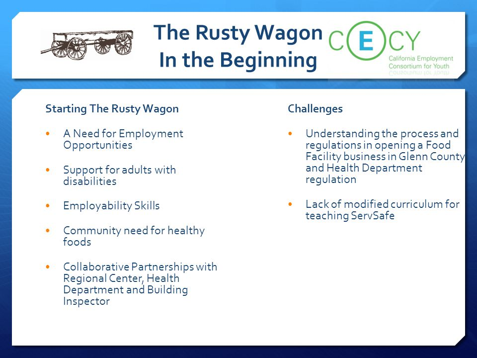 The Rusty Wagon In the Beginning