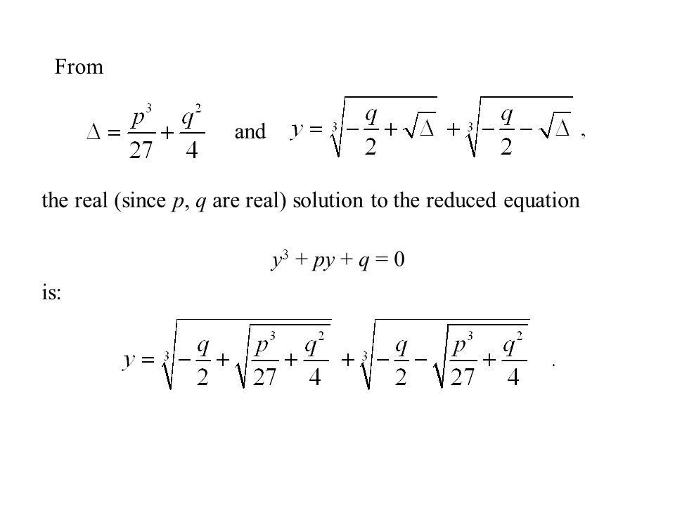 The Cubic Equation Formula - ppt video online download