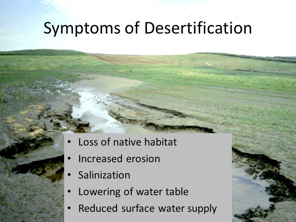 Symptoms of Desertification