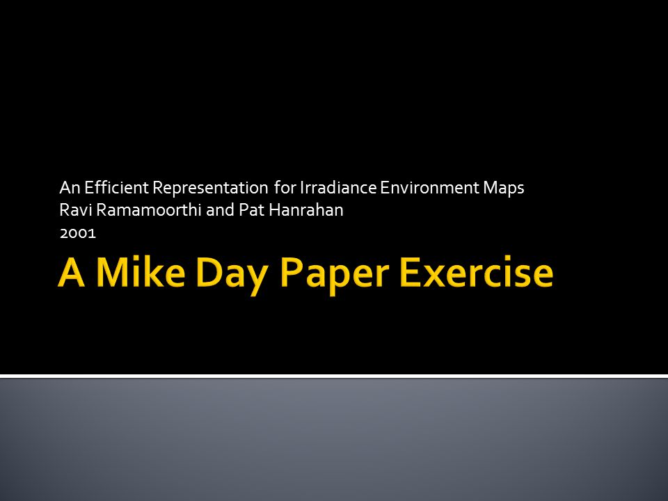 A Mike Day Paper Exercise