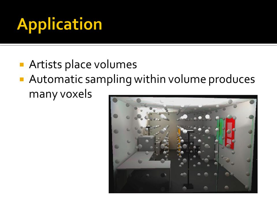 Application Artists place volumes