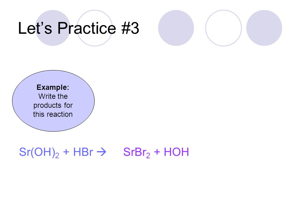 Write the products for this reaction