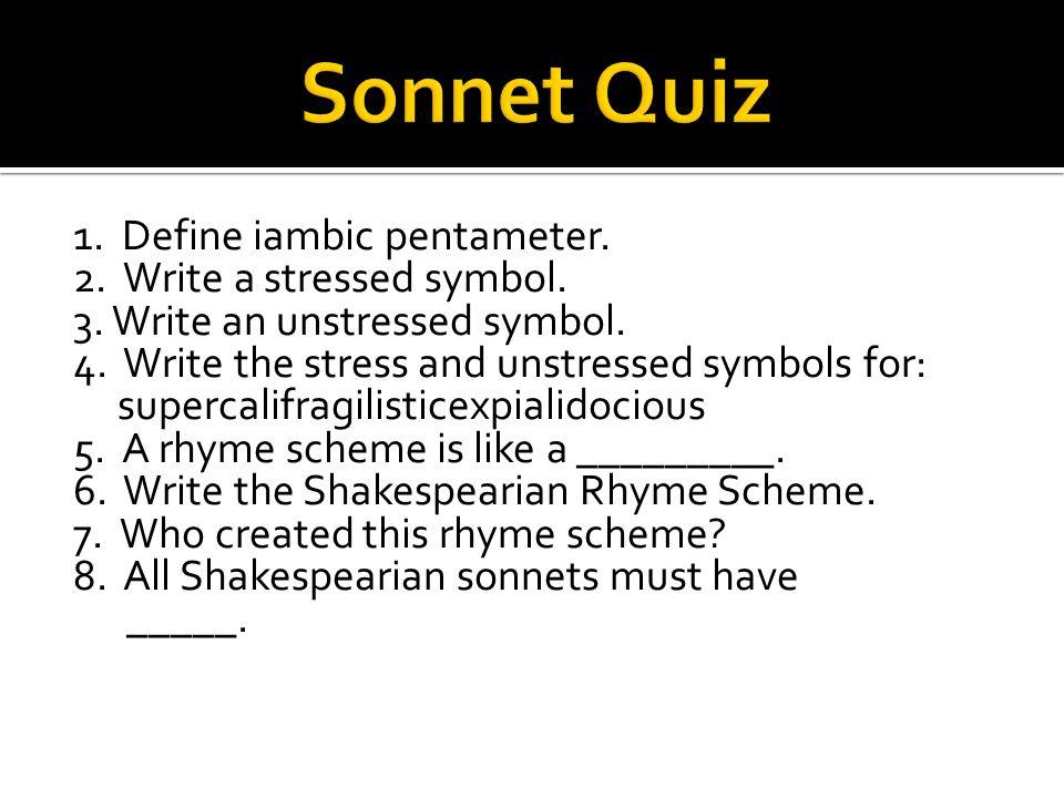 Sonnet Quiz