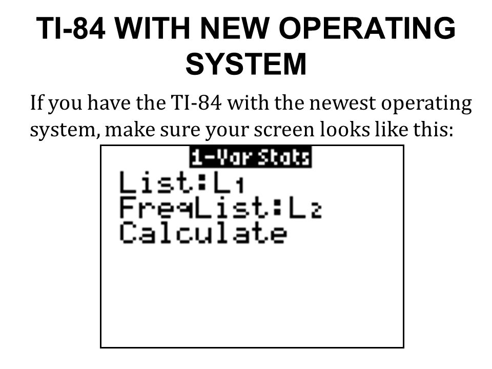 TI-84 WITH NEW OPERATING SYSTEM