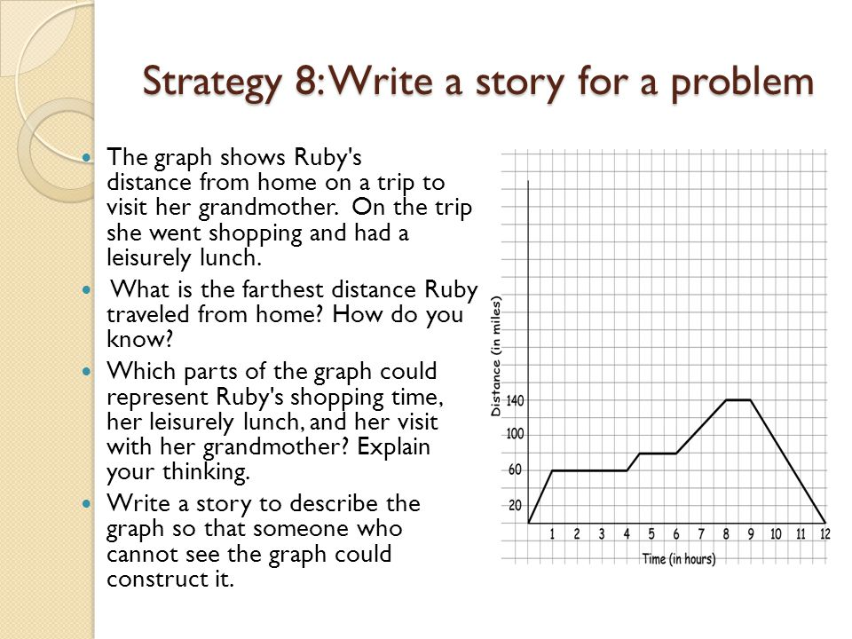 Strategy 8: Write a story for a problem