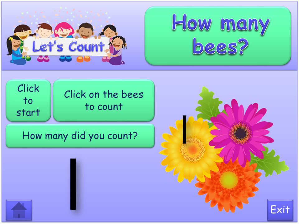 Click on the bees to count