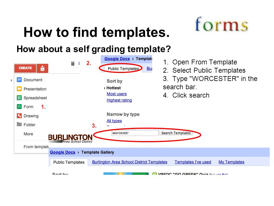 How to find templates. How about a self grading template