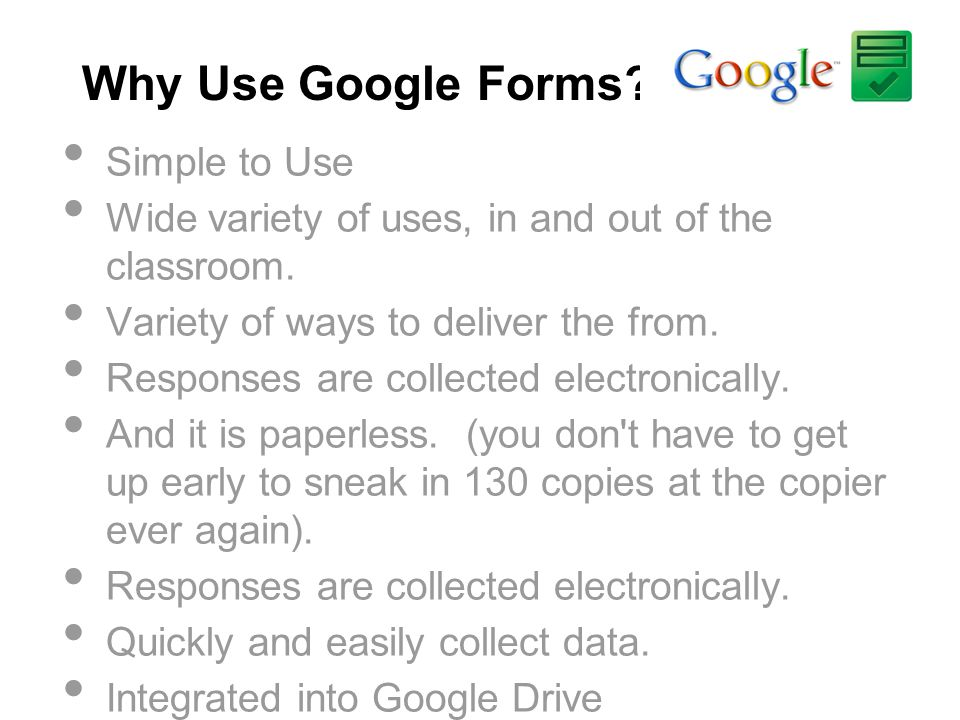 Why Use Google Forms Simple to Use