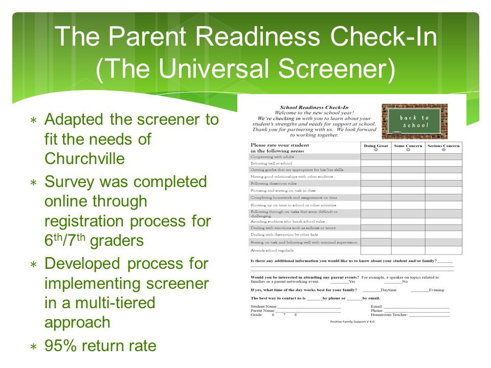 Screener Results Looking at the data from a multi-tiered approach