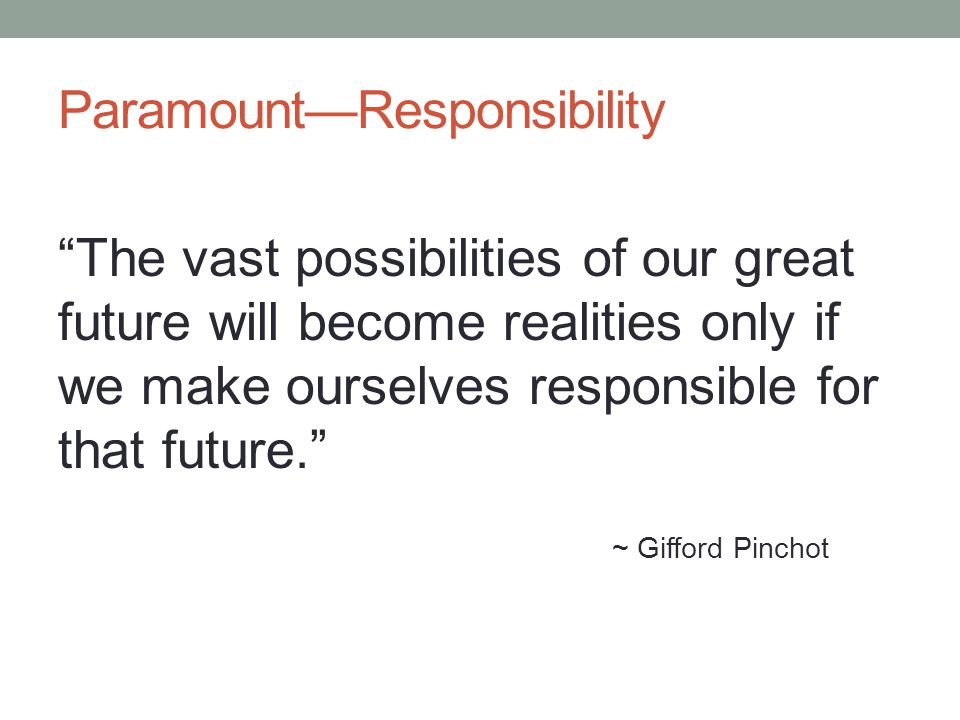 Paramount—Responsibility