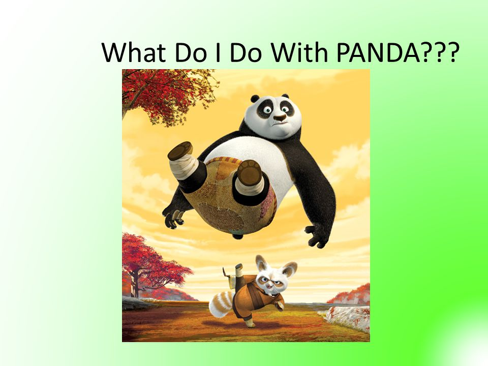 What Do I Do With PANDA