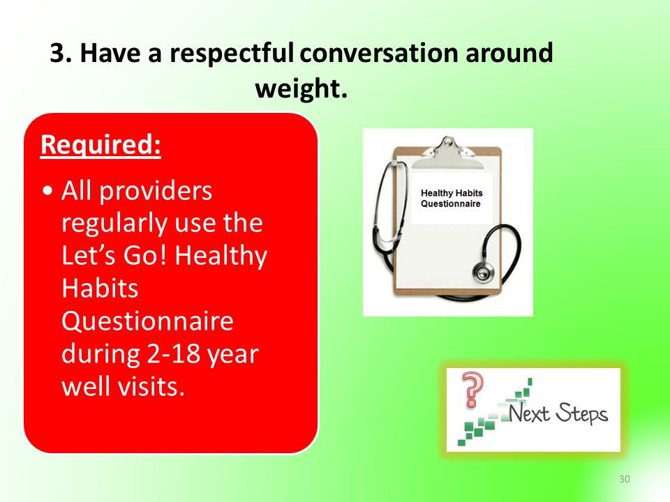 3. Have a respectful conversation around weight.