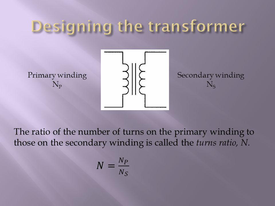Designing the transformer