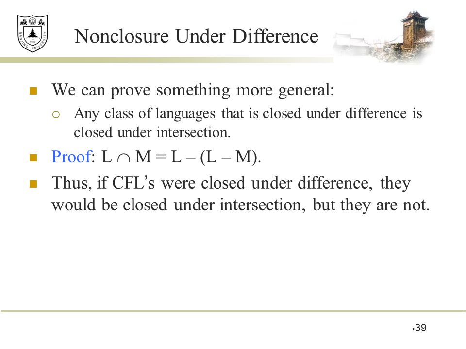 Nonclosure Under Difference
