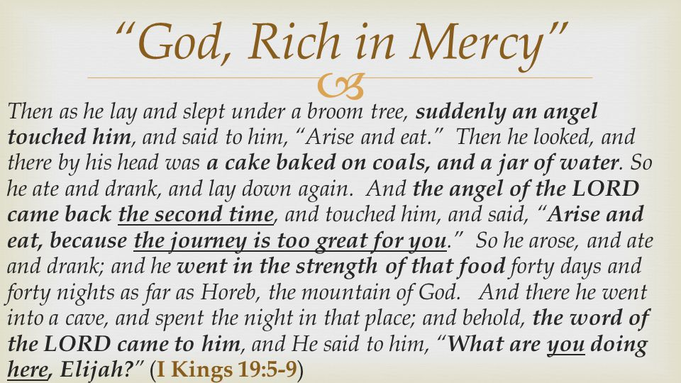 God, Rich in Mercy