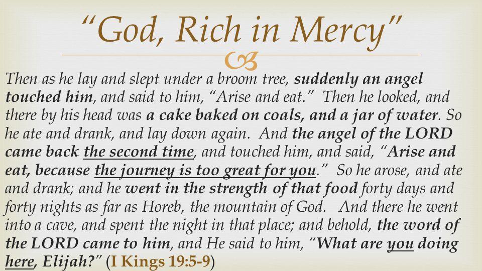 God, Rich in Mercy