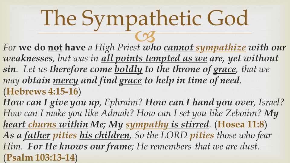 The Sympathetic God