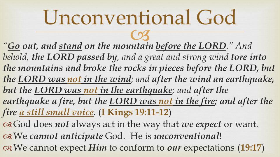 Unconventional God
